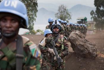 FIB vikosi maalum vya Tanzania ambao wanahudumu katika sehemu ya MONUSCO, huko Sake, North Kivu (Maktaba). Picha: © MONUSCO / Sylvain