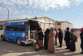 Moja ya kliniki sita za kuhamahama zinazotolewa na WHO kutoa huduma za afya kwa watu wanaokimbia ukatili huko Aleppo, Syria. Picha: WHO Syria