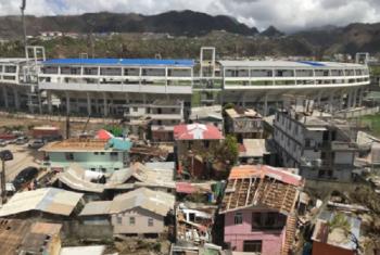 Dominica baada ya Kimbunga Maria tarehe 3 Oktoba 2017.