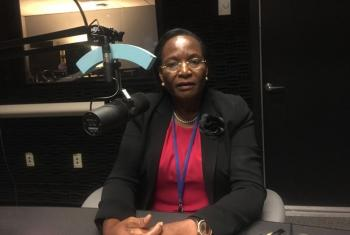 Dkt. Winnie Mpanju Shumbusho, mwenyekiti wa ubia wa kutokomeza Malaria duniani, RBM akihijiwa na Idhaa ya Kiswahili. Picha: UNNews Kiswahili/Assumpta Massoi