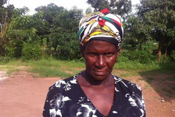 Mjane aliyepitia madhila mengi kufuatia kifo cha mumewe, Magdalena Mbiya Namutebi. Picha: John Kibego