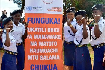 Kampeni ya #ZuiaUkatili huko Kigoma nchini Tanzania. Picha: UN Women Tanznaia