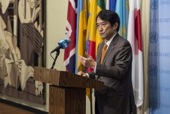 Naibu Mwakilishi wa kudumu wa Japan kwenye Umoja wa Mataifa Balozi Yasuhisa Kawamura. (Picha: UN/Kim Haughton)