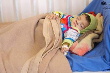 Mtoto nchini Yemen akipatiwa matibabu. (Picha:UNICEF-Yemen)