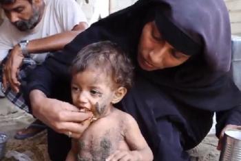Familia nchini Yemen wapata lishe muhimu mara moja tu kwa siku. Picha: WFP