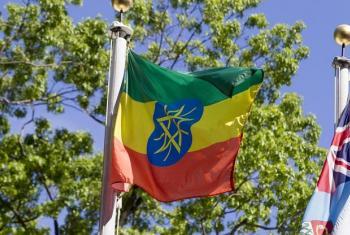 Bendera ya Ethiopia. Picha: UM/Loey Felipe