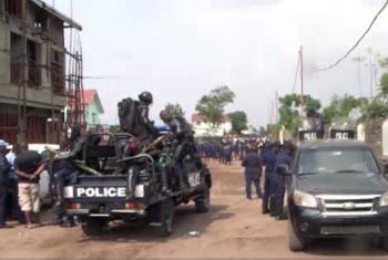 Polisi wakikabiliana na waandamanaji mjini Kinshasa, DRC. (Picha:Unifeed video)