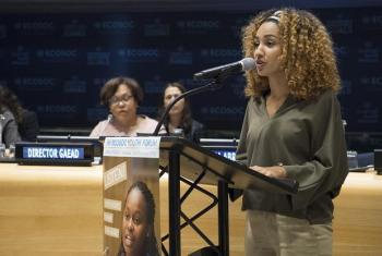 Salina Abraham, Rais wa jumuiya ya kimataifa ya wanafunzi wa masuala ya misitu. Picha: UM/Eskinder Debebe