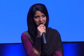Mwanamuziki na mwanaharakati wa haki za wasichana na wanawake Afghanistan, Sonita Alzadeh. Picha: World Bank/Video capture