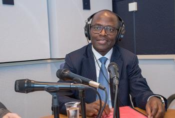 Cosmas Zavazava, Mkuu wa idara ya msaada wa miradi na usimamizi wa elimu kwenye shirika la ITU.Picha na: Daniel Woldu/ ITU