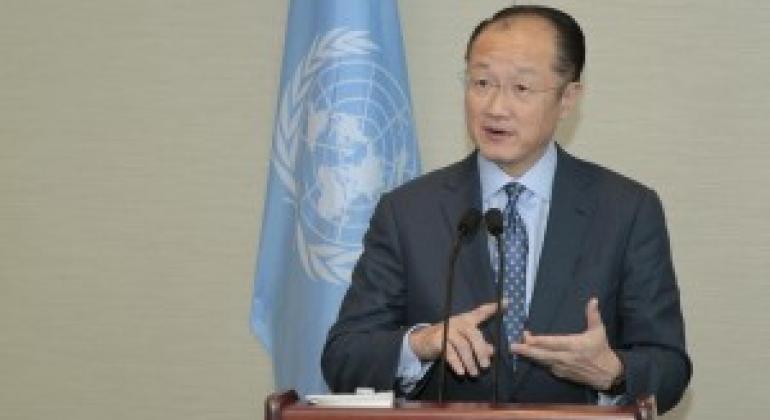 世行行长金墉 联合国图片/Paulo Filgueiras