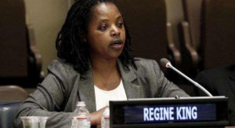 卢旺达大屠杀幸存者雷吉娜·金 联合国图片/Evan Schneider