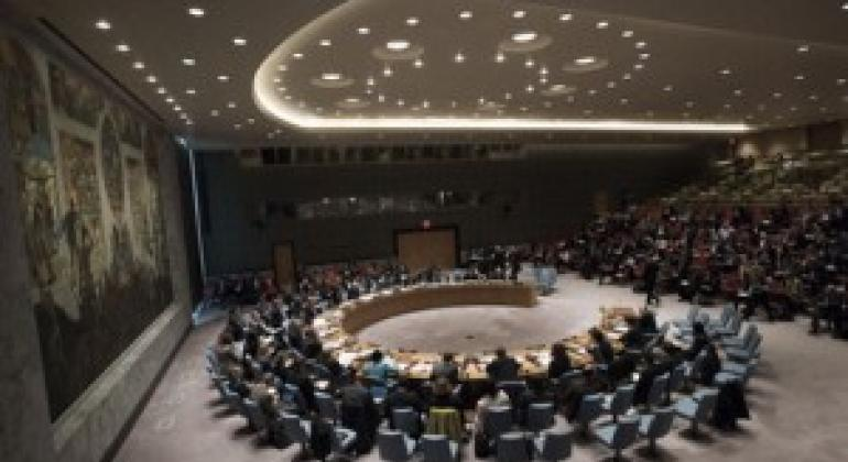 安理会20日就工作方法召开会议。联合国图片/Kim Haughton