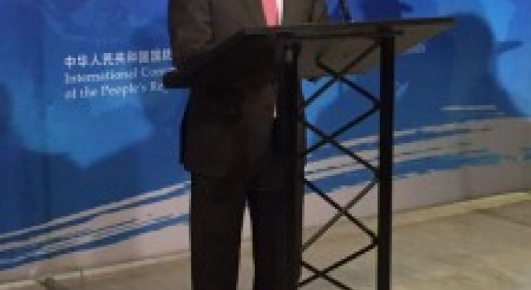 刘结一大使致辞。联合国图片/张菁菁