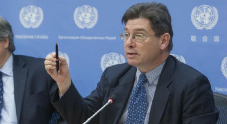 移民人权状况特别报告员克雷波。联合国图片/Loey Felipe。