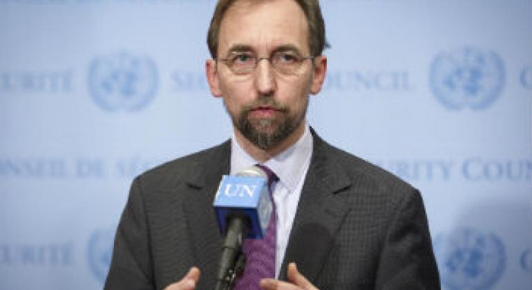 人权高专扎伊德。联合国图片/Rick Bajornas。