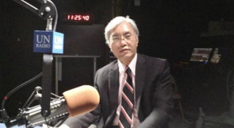 安理会反恐执行局副主任陈伟雄。联合国电台图片/李茂奇。