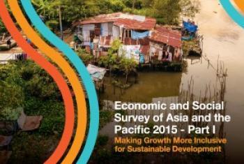 《2015年亚洲和太平洋地区经济社会调查报告》封面