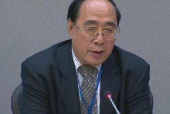 联合国负责经社事务的副秘书长吴红波召开记者会 联合国图片
