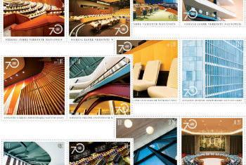 联合国成立70周年特别系列邮票。