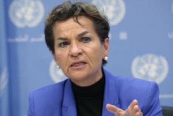 《气候变化框架公约》秘书处执行秘书菲格雷斯资料图片。联合国图片/Sarah Fretwell。