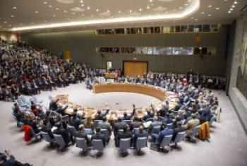 联合国安理会会议现场资料图片。联合国图片/Rick Bajornas