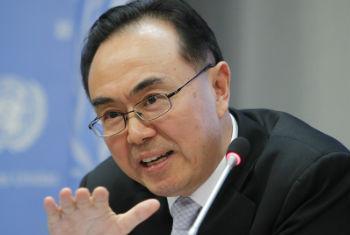 联合国经济学家、经社事务部发展政策研究司司长洪平凡资料图片。联合国图片/Devra Berkowitz