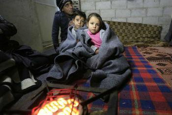 联合国儿童基金会正努力向叙利亚100万儿童提供过冬急需物资。联合国儿童基金会图片/UN06840/Sanadiki