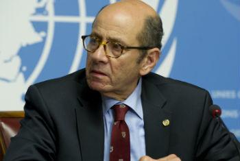联合国日内瓦办事处新闻媒体处临时负责人阿赫迈德·法奇资料图片。联合国图片/Violaine Martin