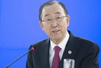 潘基文秘书长资料图片。联合国图片/Jean-Marc Ferré