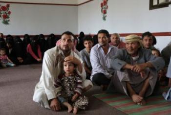 也门的流离失所者。 人道协调厅图片/Charlotte Cans
