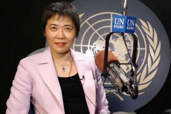 国际民航组织秘书长柳芳在联合国电台演播室接受采访 联合国电台图片