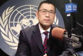经社部社会政策问题专家张国忠接受联合国电台采访 联合国图片/李茂奇