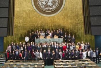 联合国实习生资料图片。联合国图片/Rick Bajornas