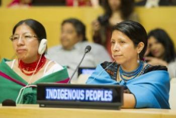 """联合国总部在8月9日""""世界土著人国际日""""举行纪念活动 联合国图片/Rick Bajornas"""