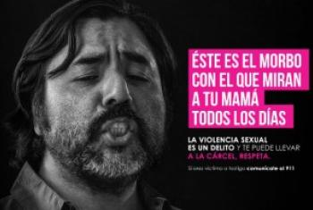 """""""男性不该如此""""运动海报。联合国妇女署图片"""