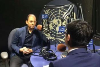 腾讯首席探索官网大为接受联合国新闻的采访。Sam Cai图片