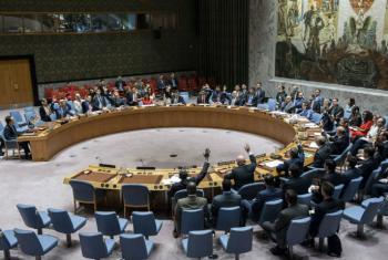 安理会会议现场。联合国图片/Kim Haughton