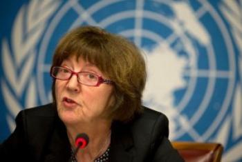 联合国儿童权利委员会成员吉尔斯顿·桑德伯格(Kirsten Sandberg)。图片来源:联合国人权办公室