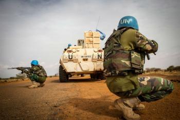 联合国刚果民主共和国稳定团在加奥地区执行任务。联刚稳定团/Harandane Dicko